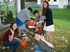 October 2012, children + Pumpkin carving 002